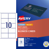 AVERY L7414 PERF BUSINESS CARD Laser/IJet 90x52mm 10/Sht Wht