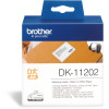 BROTHER LABEL PRINTER LABELS Ship/Name Badge 62X100mm White