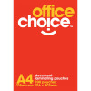 OFFICE CHOICE LAMINATING POUCH A4 125 micron