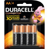 DURACELL COPPERTOP BATTERY AA Card of 4