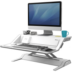 Fellowes Lotus DX Sit Stand Workstation White